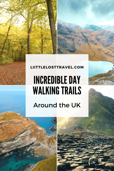 Do you want to discover the best of the UK? These amazing day walks will have you wanting to get outside and explore. From lofty peaks to iconic landmarks and sandy beaches, each hike has its own breathtaking views. This roundup includes a free hiking packing list!#Scotland #Wales #England #NothernIreland #hiking #bestwalks