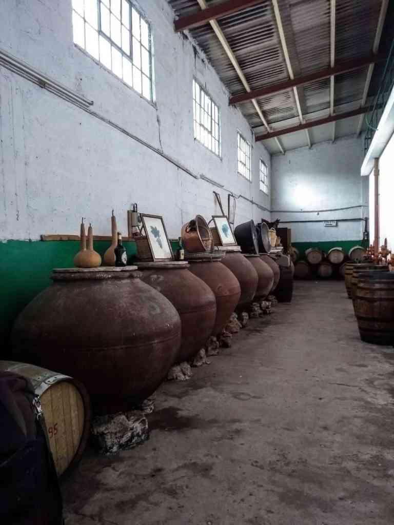 Karseras winery commandaria barrels
