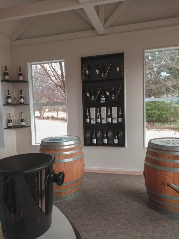 Akarua has an incredible wine cave.