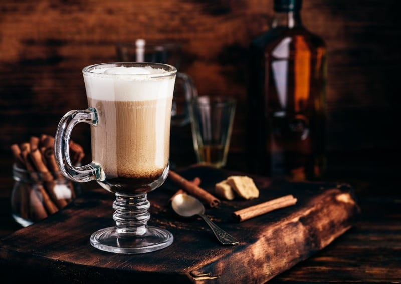 Irish coffee is best with heaps of cream