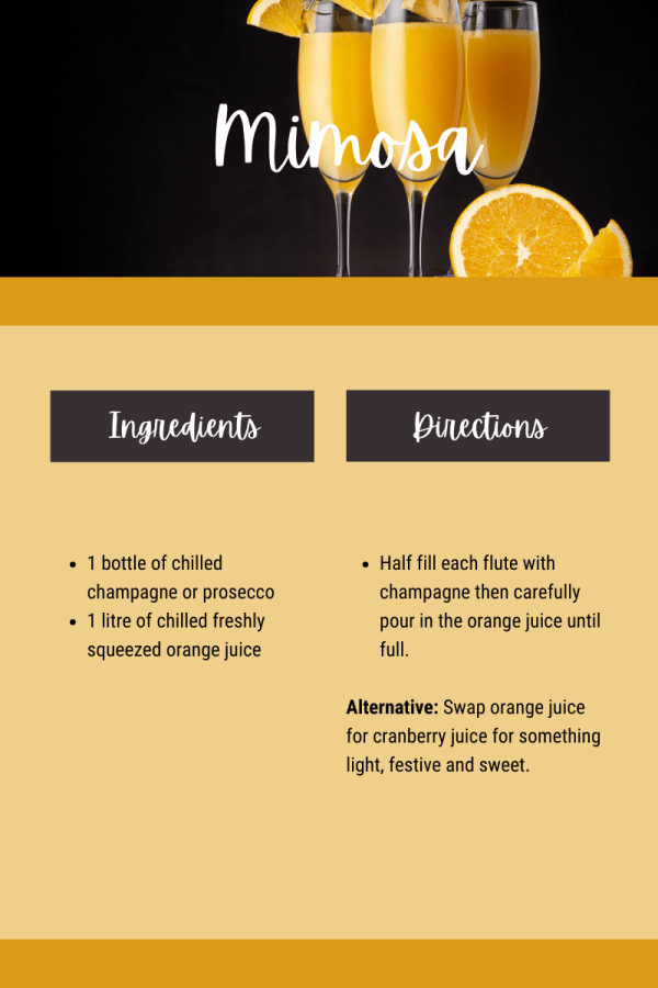 Mimosas are one of the top international cocktails and they're incredibly simple to make!