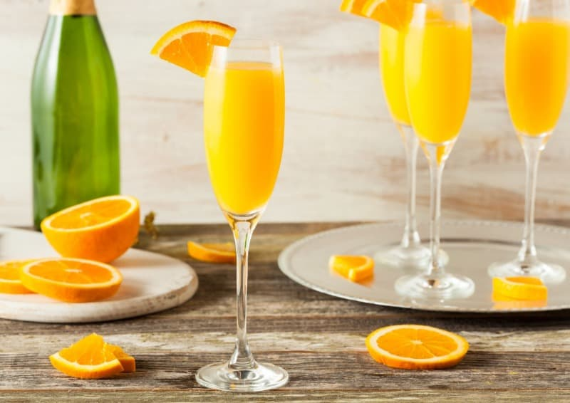 Mimosas have plenty of orange juice