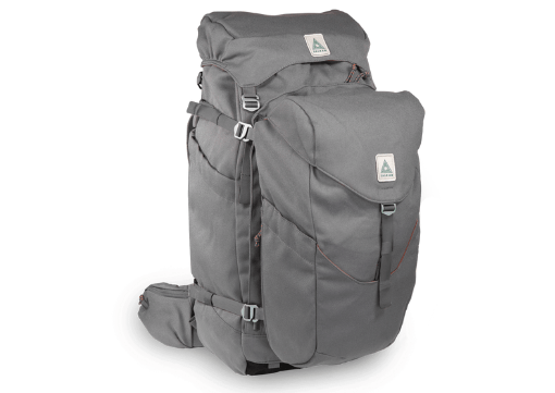 SALKAN The Backpacker. Main pack with a daypack hooked onto it.