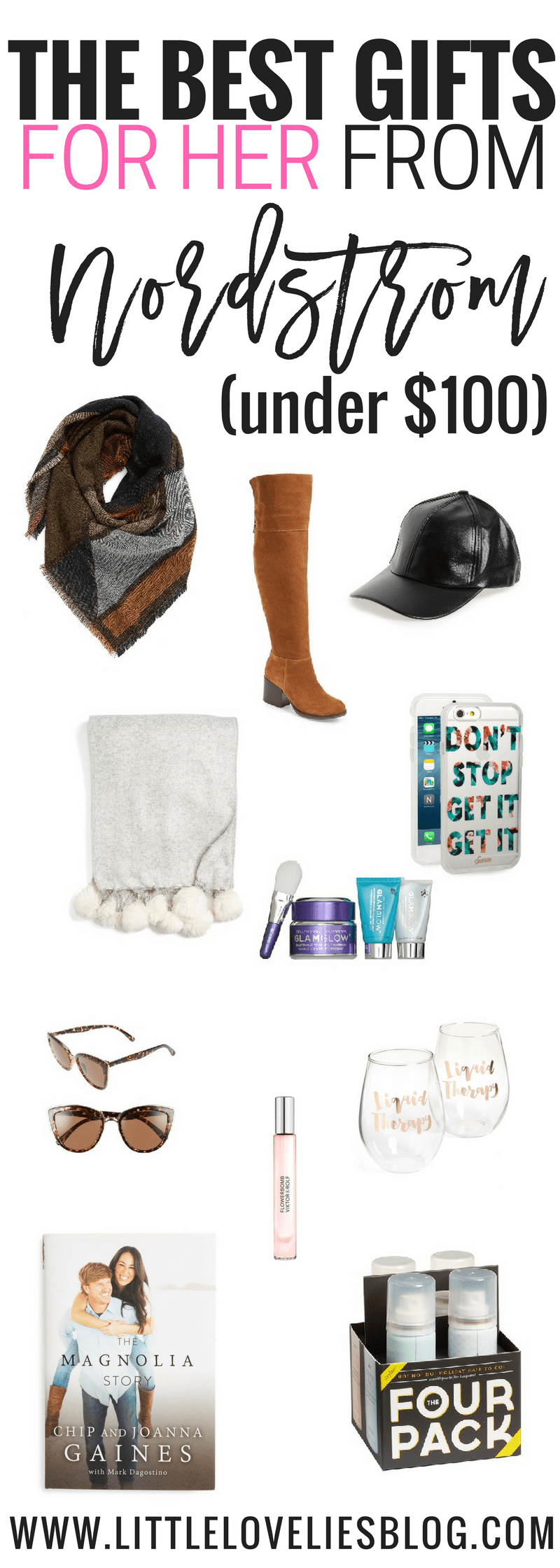 holiday gift guide from nordstrom all of the gifts you need for HER under $100