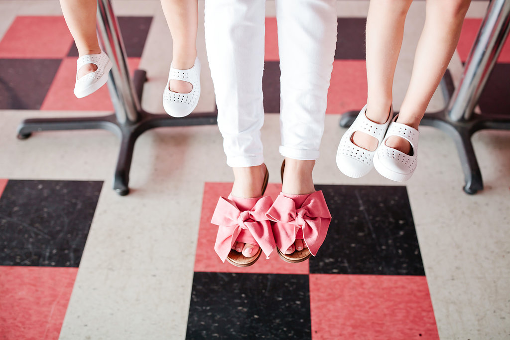 pink sam edelman bow slides