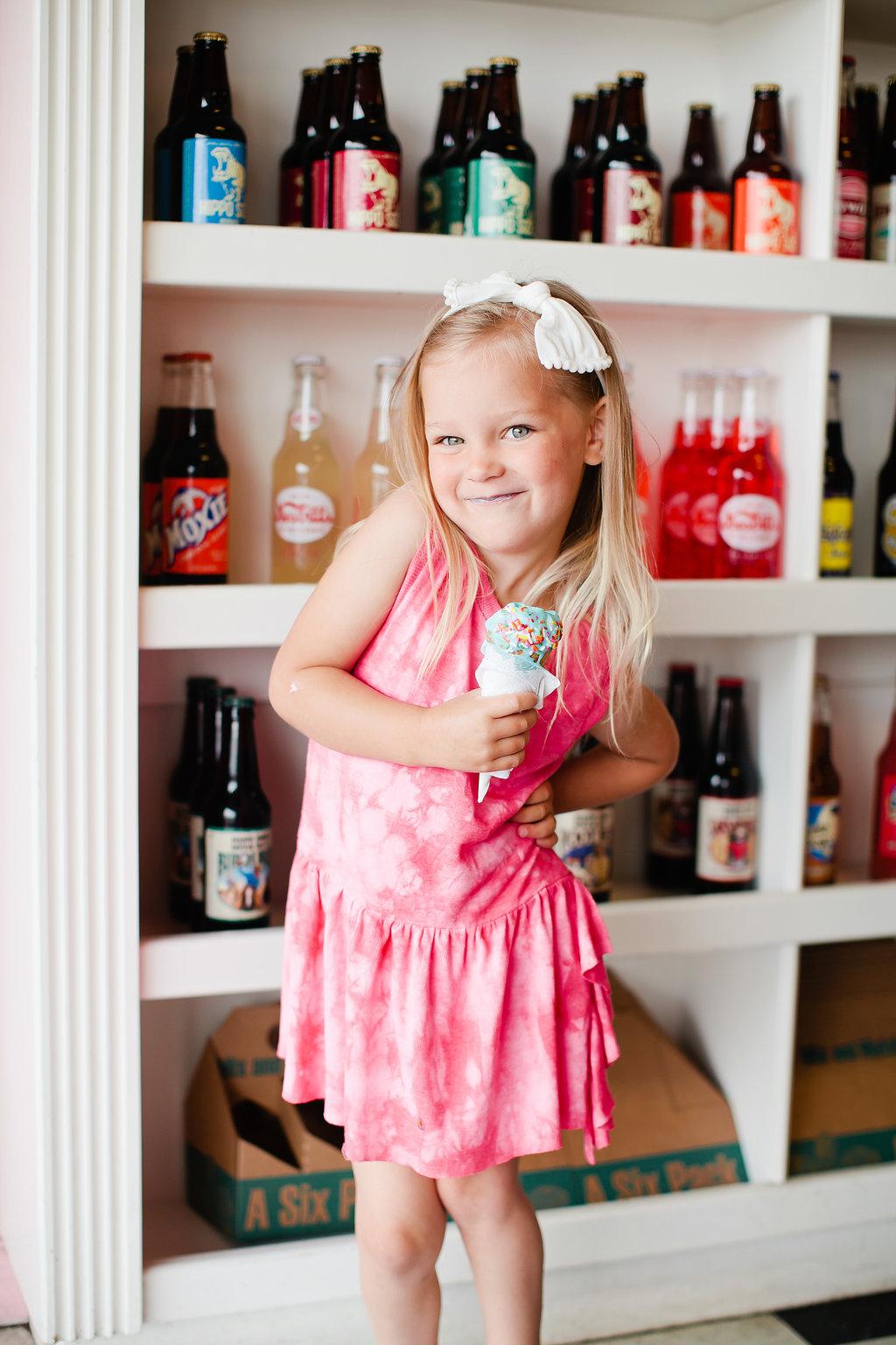 pink tie die dress toddler