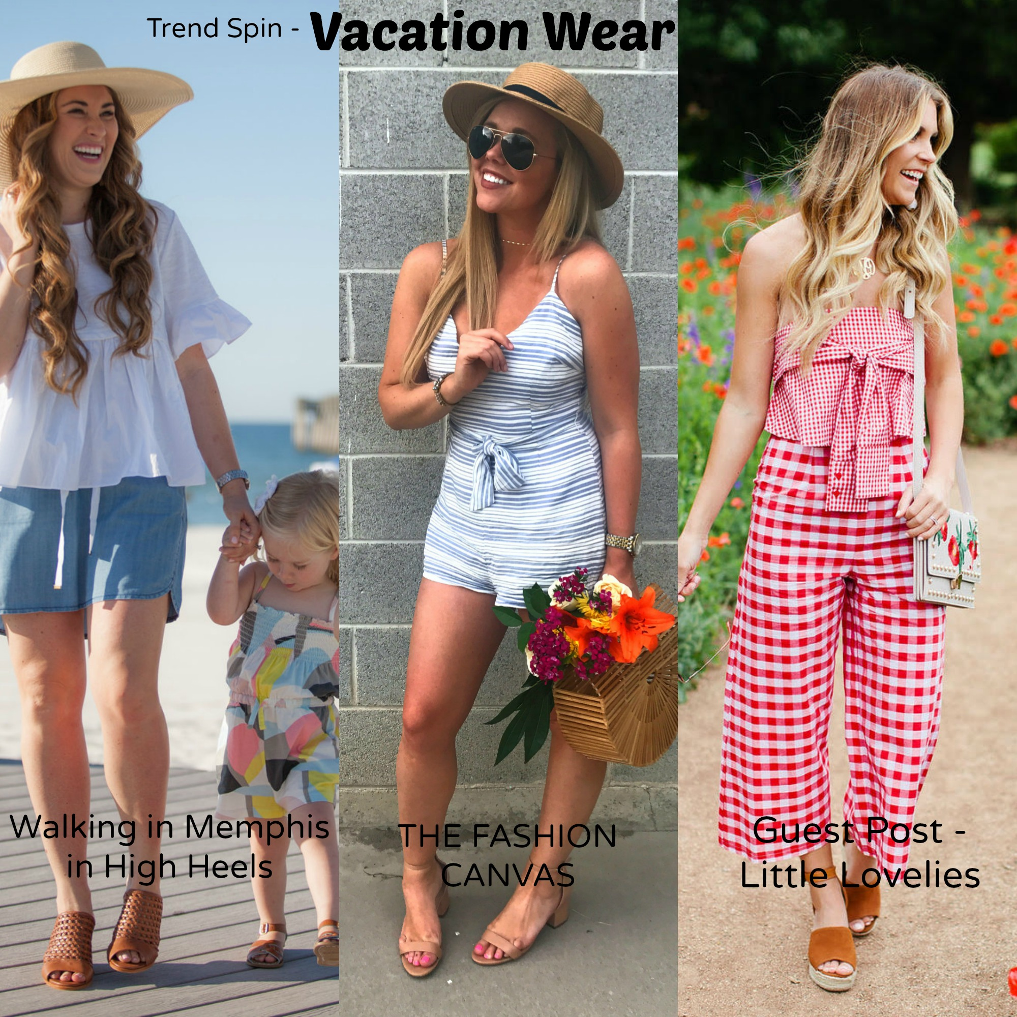 vacation wear from 3 different bloggers