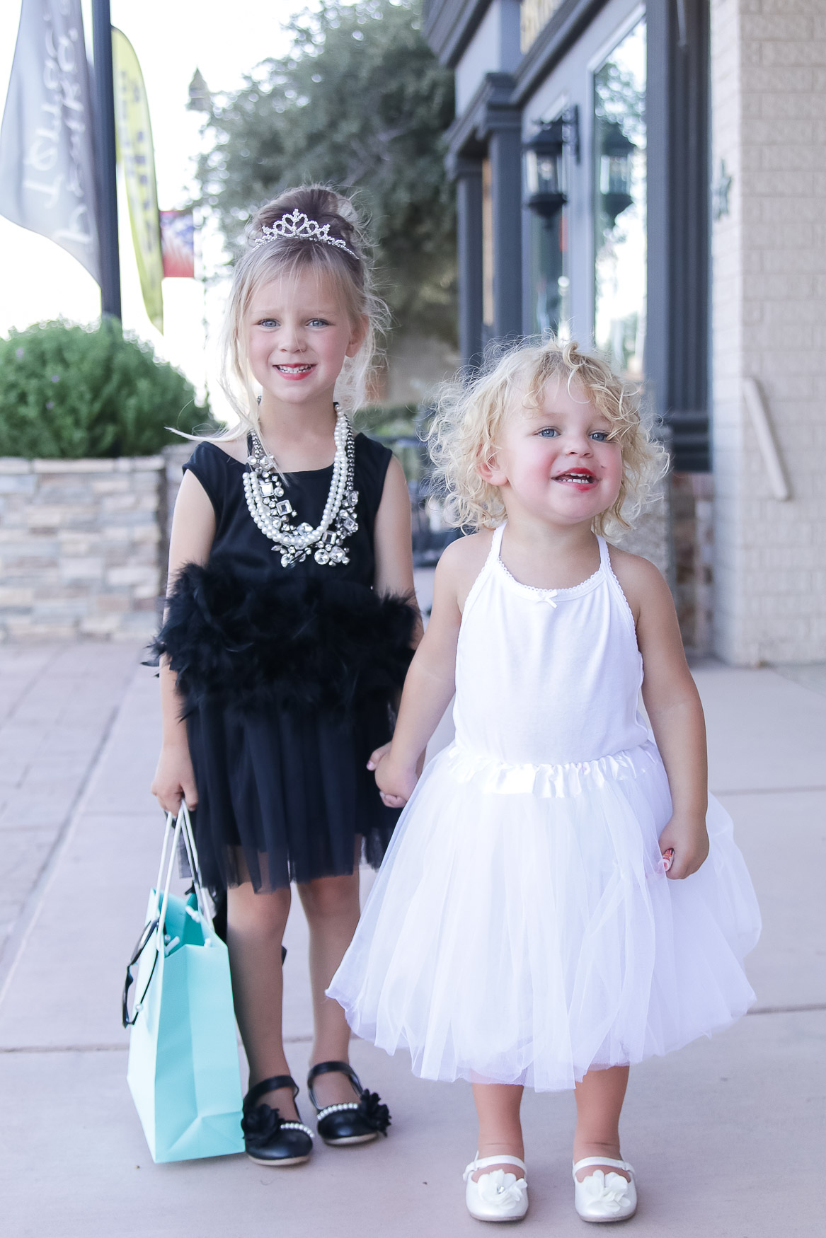 How fun are these costumes? I think all of my Girl Mom dreams came true in this moment that Laikyn was Audrey Hepburn from Breakfast at Tiffanyu0027s and Lennyn ...  sc 1 st  Little Lovelies Blog & DIY Toddler Audrey Hepburn + Marilyn Monroe Costumes - Little ...