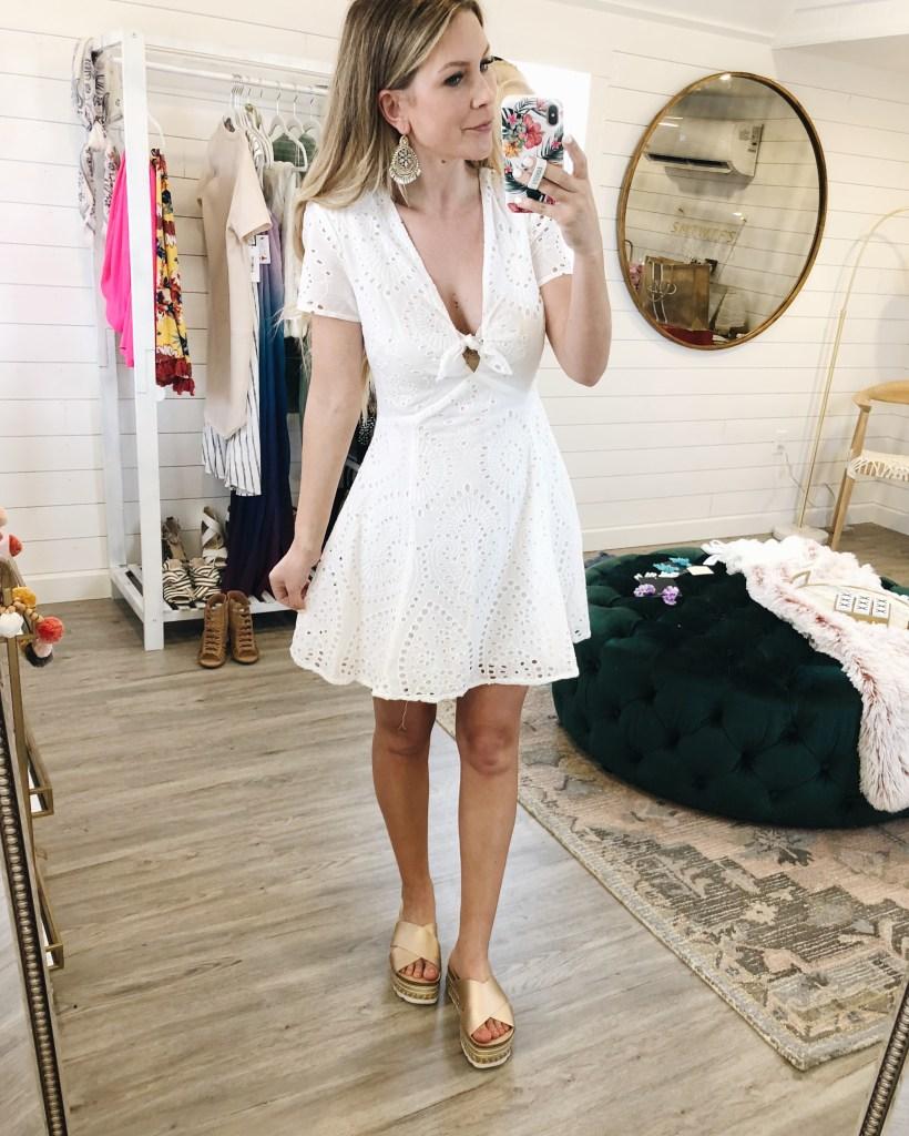 Most Precious White Eyelet Dress