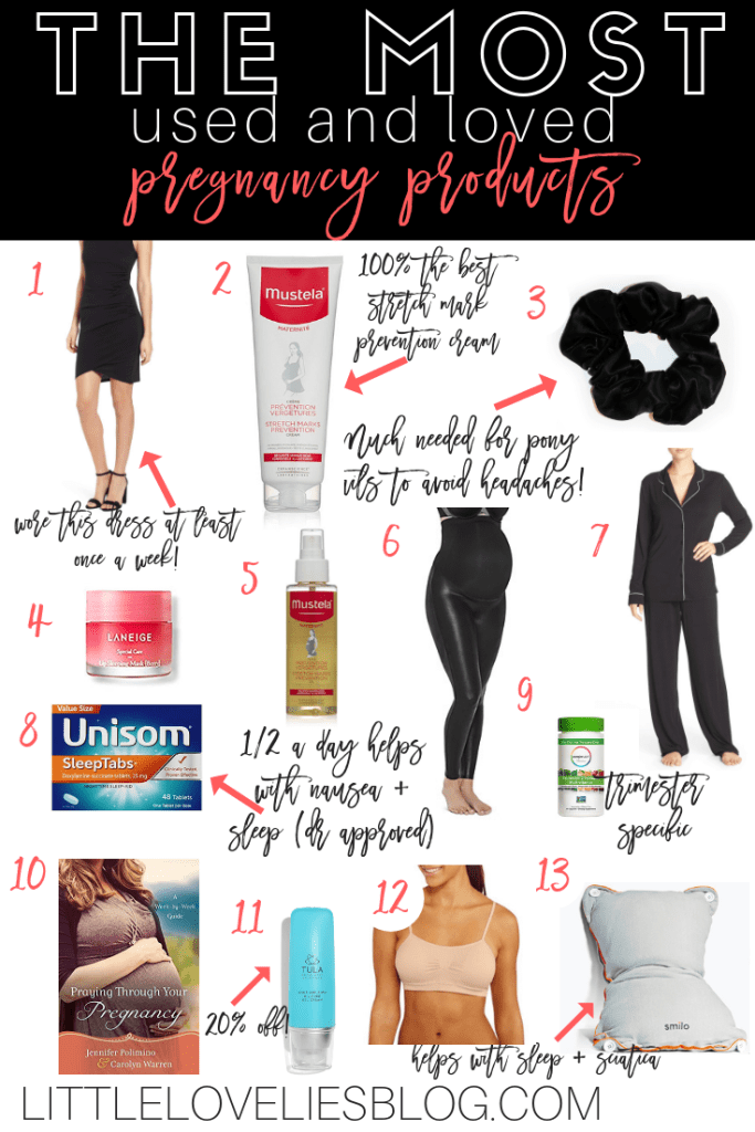 the most used and loved pregnancy products from a third time mom