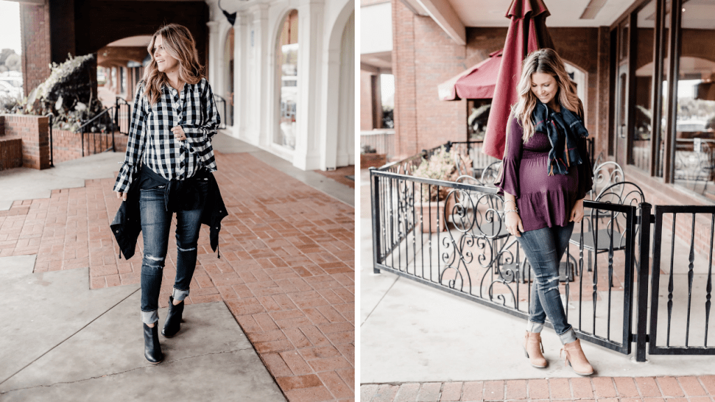 third trimester maternity outfits for fall (1)