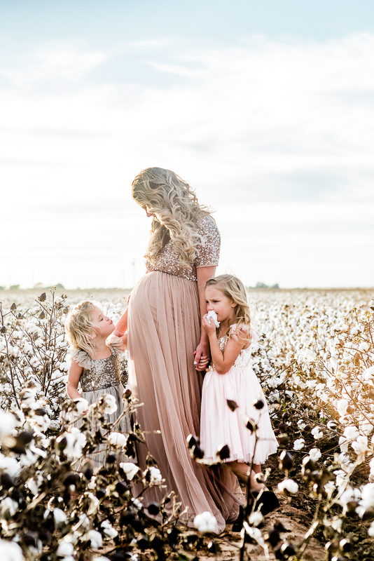Cotton Field Maternity Photos