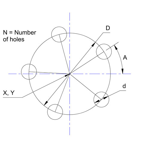 Bolt Hole Circle Calculator