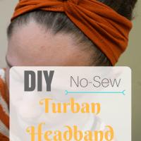 DIY Turban Headband - No-Sew