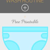 Cloth Diaper Wash Routine - Free Printable