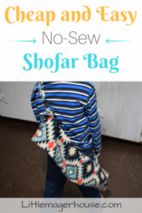 Here's how to make a cheap and easy, no-sew, DIY shofar bag! And the best part? It only cost me under $1! If you can tie knots, you can make this!