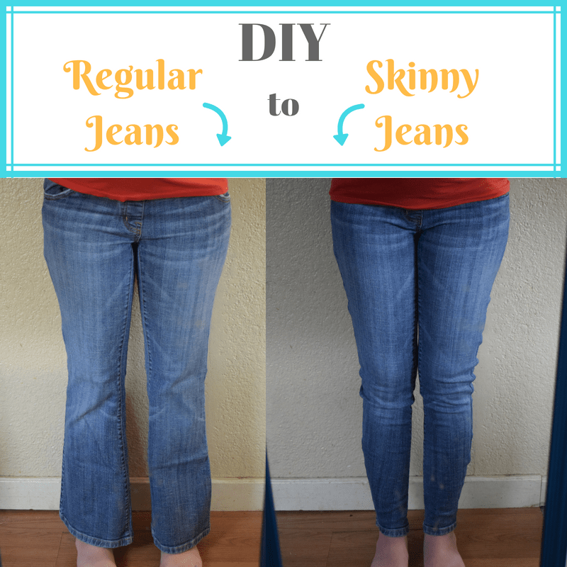 Make Skinny Jeans Yourself from Regular Jeans