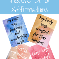 Free Printable Positive Christian Birth Affirmations