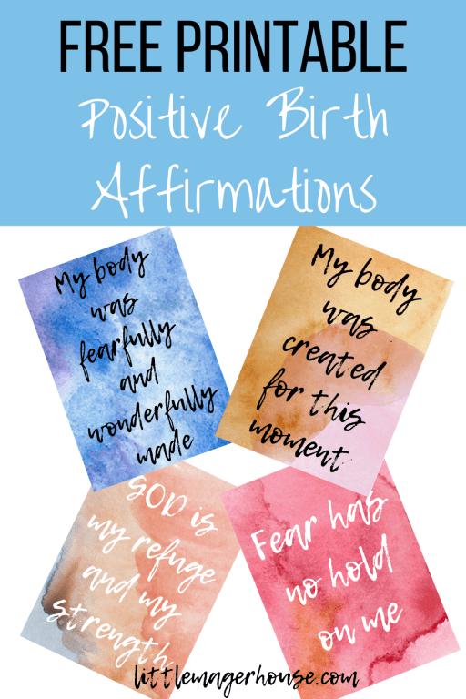 FREE Printable Positive Christian Birth Affirmations