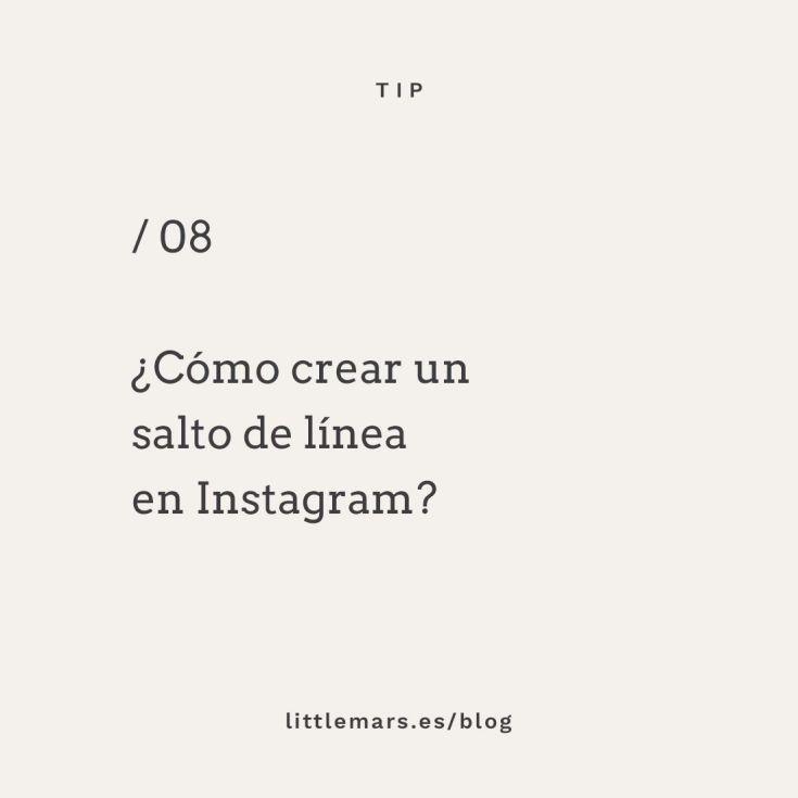 Cómo crear un salto de línea en Instagram