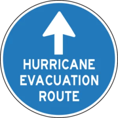Hurricane Eva Route Sign