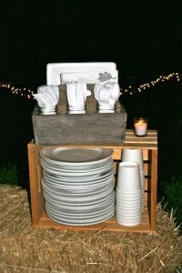 Dishes Setup For Fall Party