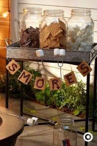 Smore's Setup for Fall Party