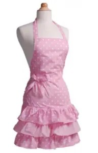 "Pink Women's Apron from Flirty Aprons <a href=""http://shareasale.com/r.cfm?b=435423&u=1449278&m=24717&urllink=&afftrack="">Womens Holiday Aprons</a>"