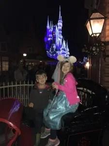 Carriage outside Christmas Shoppe