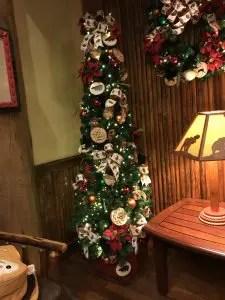 Mini Christmas Tree at Whispering Canyon At WDW
