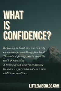What is Confidence?  littlemissblog.com