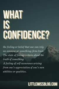 What is Confidence?  littlemissblog.com