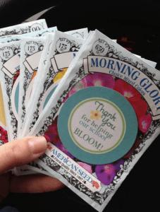 Easy Gifts For Teachers Appreciation Week. Seeds to Plant Littlemissblog.com