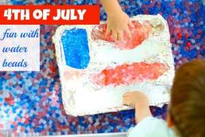 Water Beads for the 4th Of July!