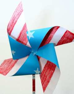 Patriotic Pinwheels for your 4th of July at home party! DIY fun
