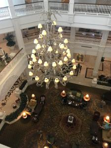 Lobby view from the 4th Floor Grand Floridian