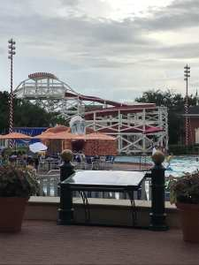 The Pool and Slide at Luna Park Pool at the Boardwalk Hotel
