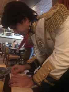 Prince Eric signing books