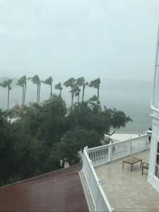 Raining at the Grand Floridian Hotel