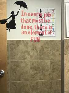 Mary Poppins Vinyl Bathroom Quote