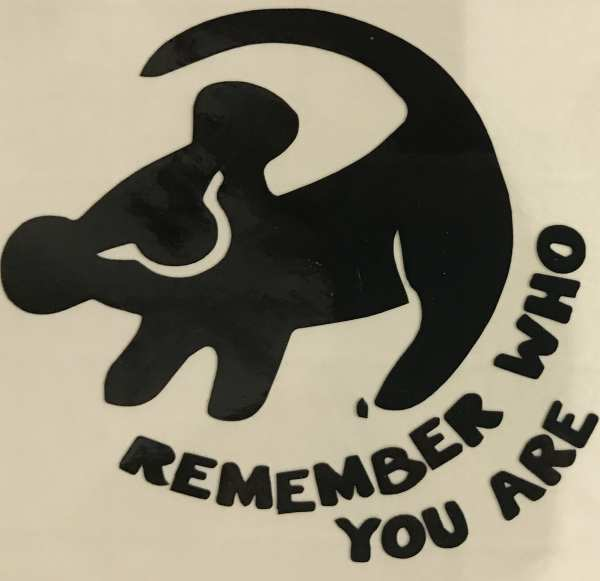 Remember Who You Are Cup Decal