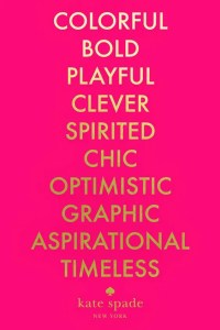 Kate Spade Quote She is Playful Clever