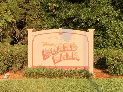 Sign for Disney's Board Walk