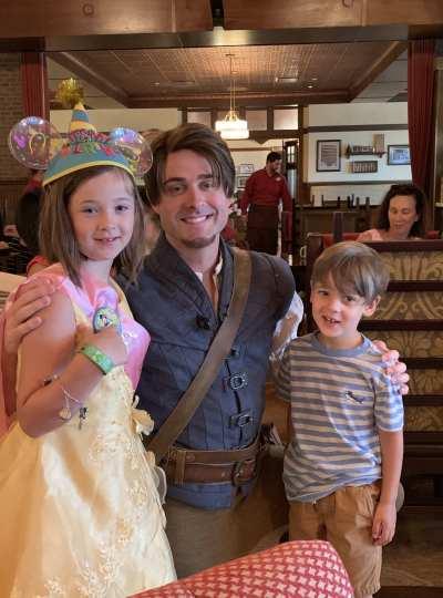 Flynn Rider at Rapunzel Breakfast