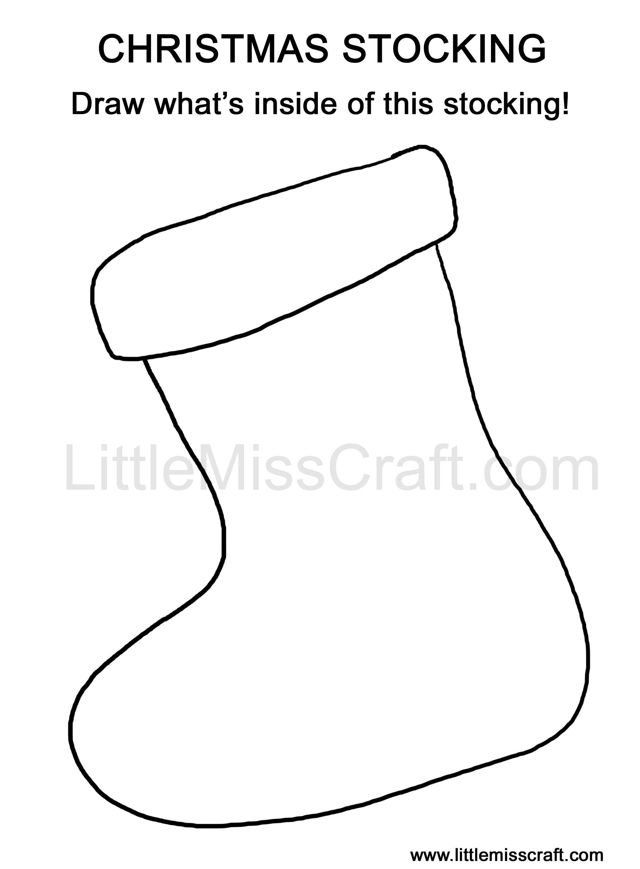 Crafts Christmas Stocking Doodle Coloring Page