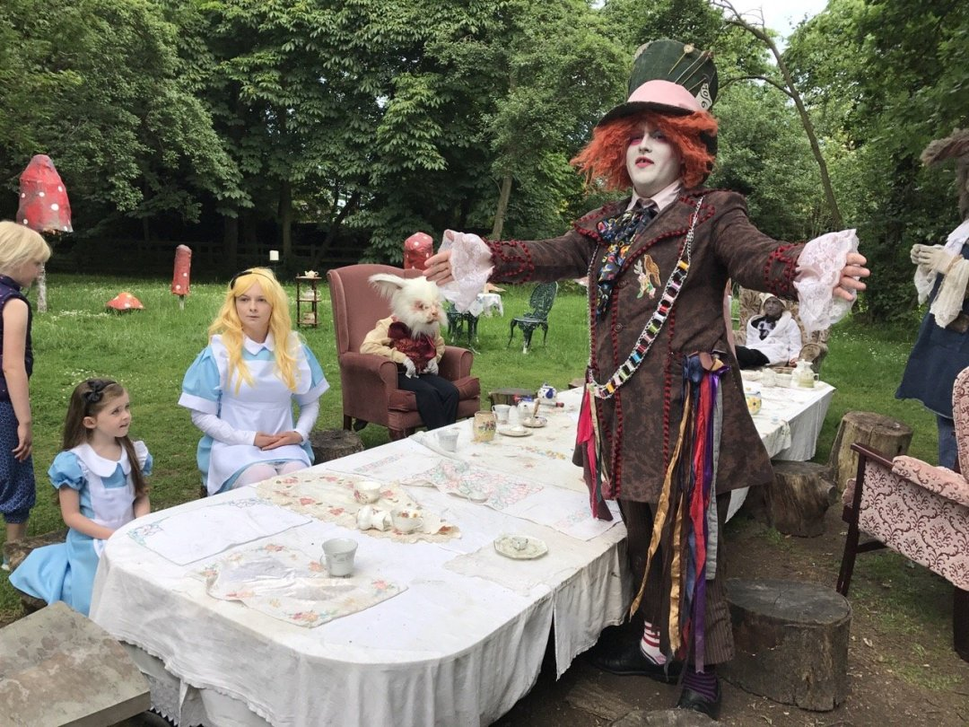 Morning in Wonderland Mad Hatters Tea Party