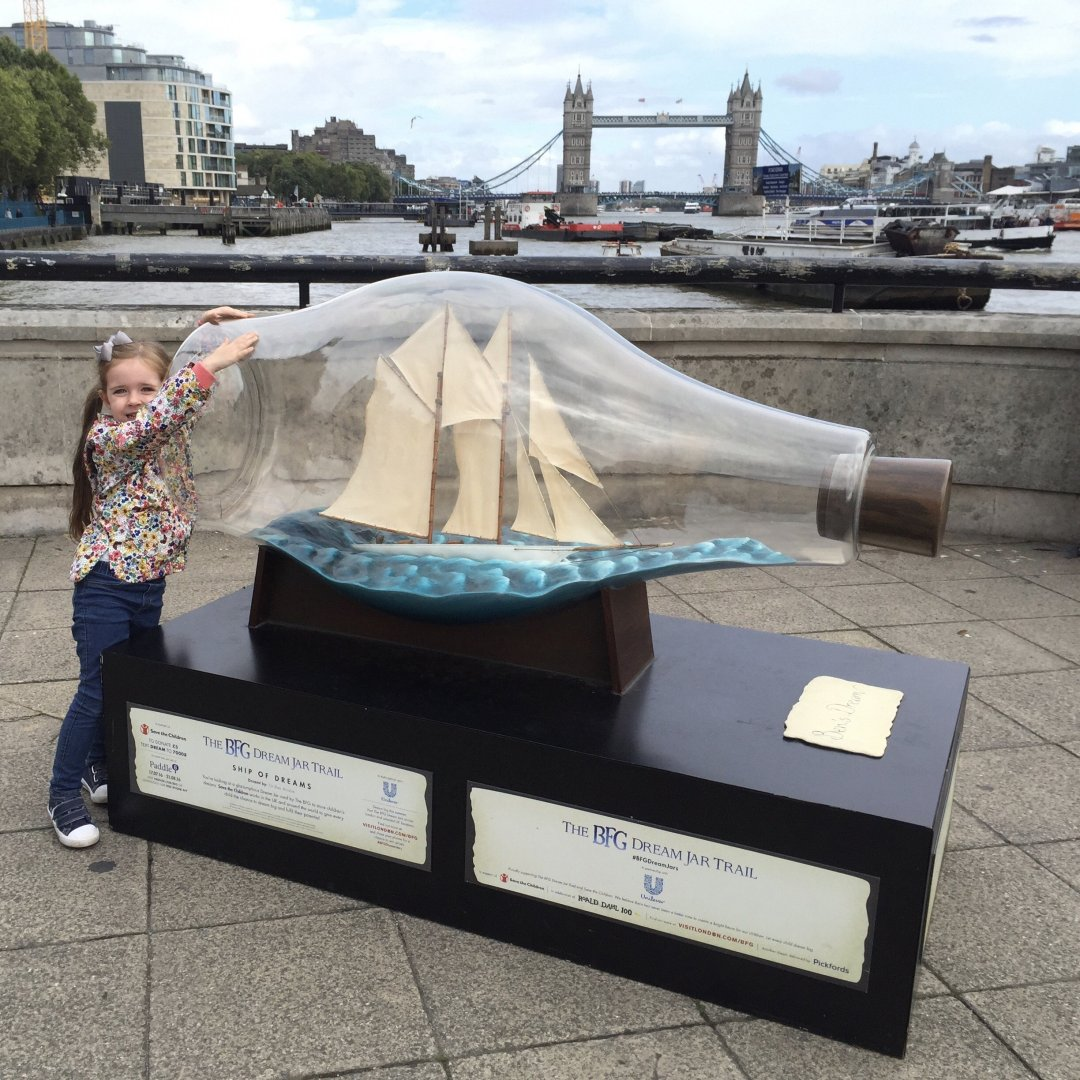My Sunday Photo, dream jar at Tower bridge London