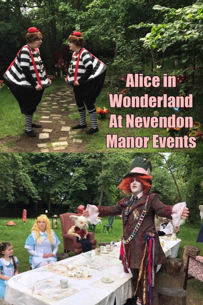 Pinable image of Alice in wonderland event at Nevendon Manor