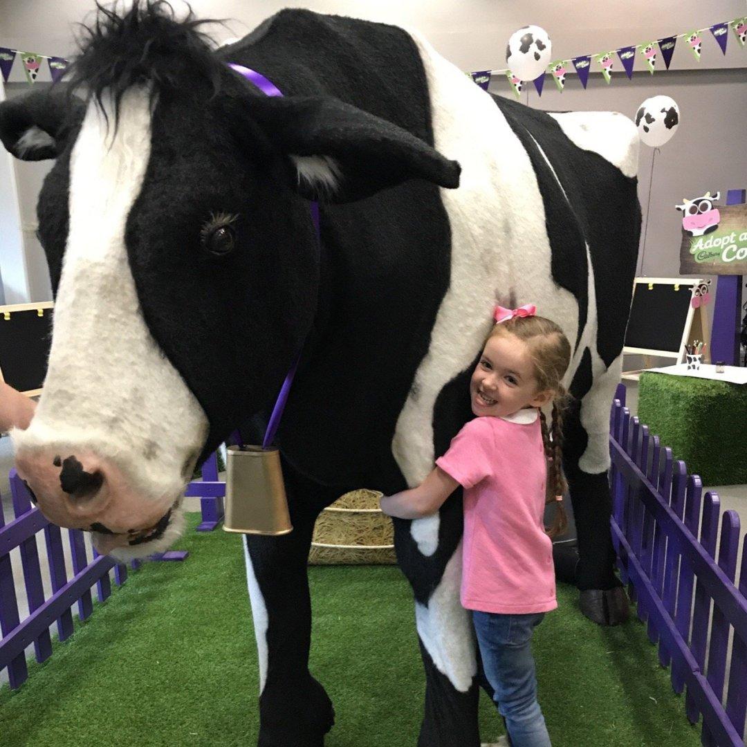 Cadbury's Adopt a Cow Eden hugs Buttons