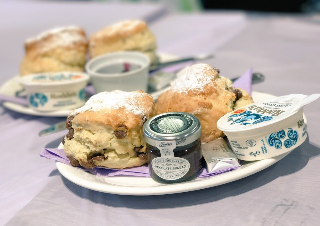 National cream tea day chocolate chip scones